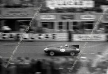 Jaguar D Type. Ivor Bueb At Speed Le Mans 1955 (1st) (a)